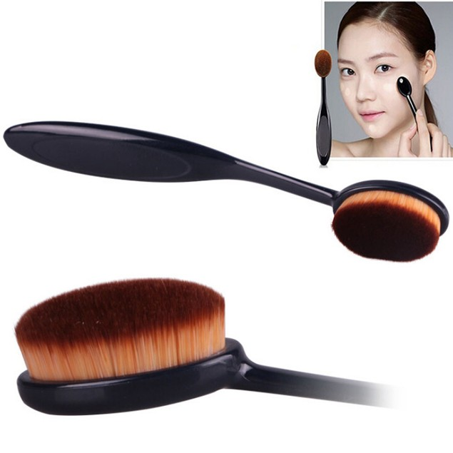 Cosmetic Makeup Face Powder Blusher Toothbrush Curve Foundation Brush