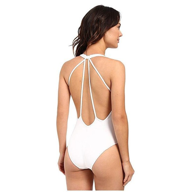 JETS by Jessika Allen Illuminate Plunge One-Piece White SZ: 4