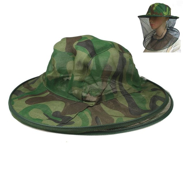 Net Mesh Face Protector Cap Insect Bee Mosquito Resistance Sun Fish Hat