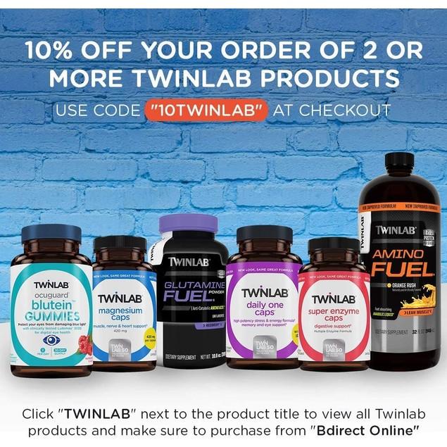 Twinlab Ocuguard Blutein Gummies Raspberry, Healthy Eye Function, 60