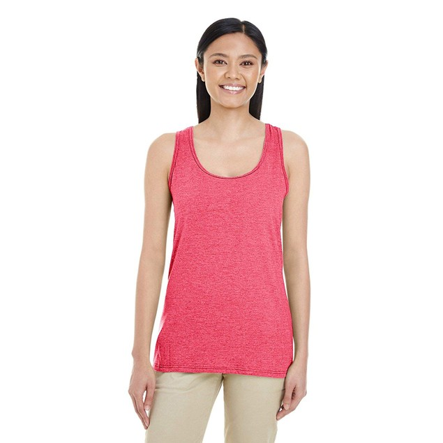 3 Pack Assorted Gildan Women's Softstyle Racerback Tank Top