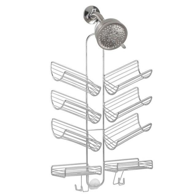 Silver Eight-Shelf Verona Hanging Shower Caddy