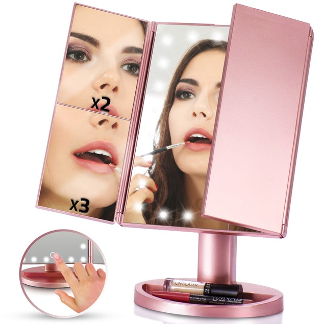 LED Vanity  Makeup and Cosmetics Mirror -High-Powered Lights