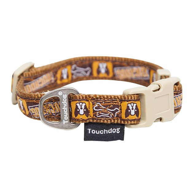 Touchdog 'Caliber' Designer Embroidered Pet Dog Leash And Collar