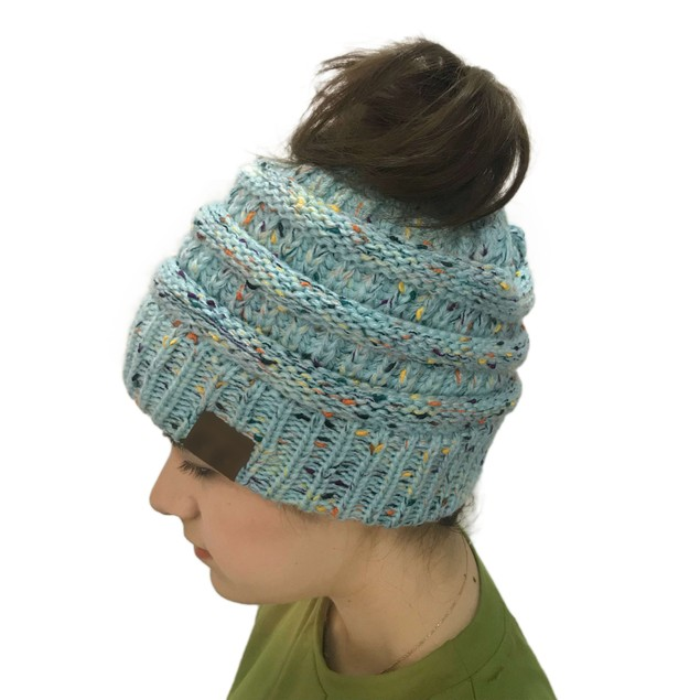 Ladies Dot Yarn Color Dot Woolen Hat