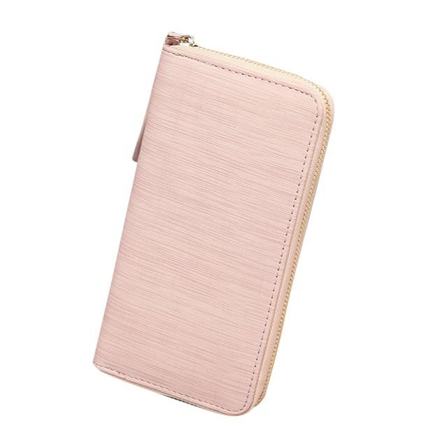 Women's Fashion Solid Long Wallet Card Holder Billfold Purse