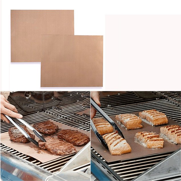 Kitchen Copper Chef Grill and Bake Mats Outdoor BBQ Tools 2Pcs/Pack