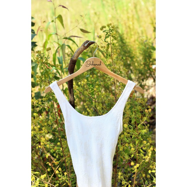 Wood Bridesmaid Hangers - Bride - Maid of Honor - Wedding Party