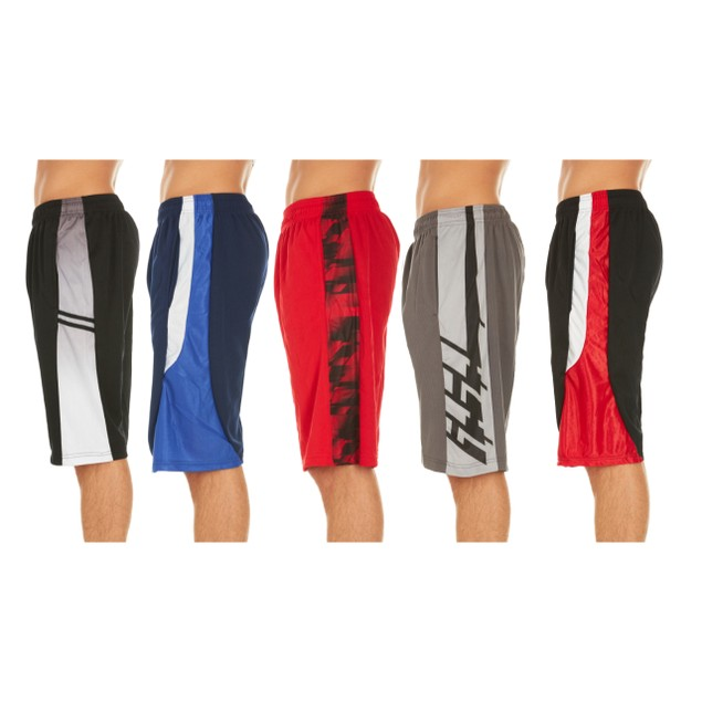 5-Pack Men's Mystery Active Athletic Assorted Performance Shorts