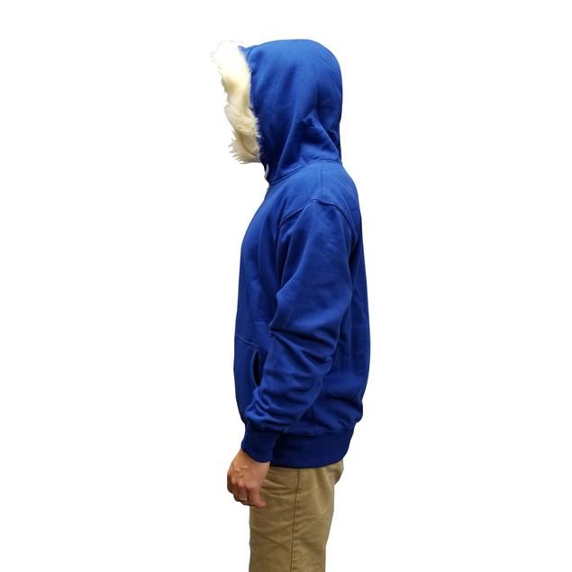 Sans Skeleton Blue Sweatshirt With Furry Hood