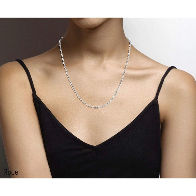 Italian Sterling Silver Chains - 4 Styles