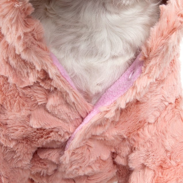 Pink-Mink' Luxury Designer Pet Coat