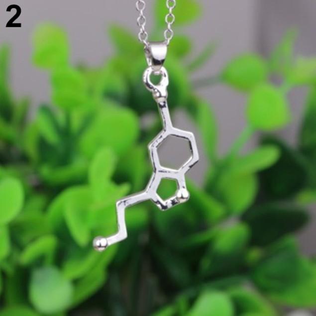 Biochemistry Molecule Pendant Necklace