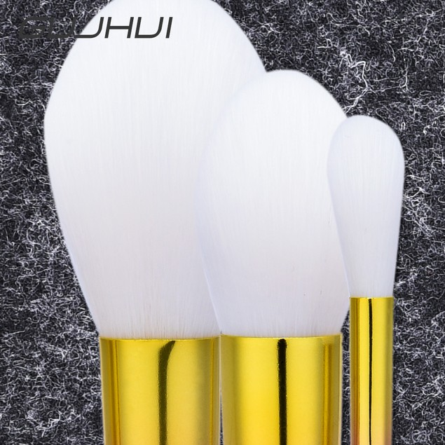 3pcs Makeup Brushes set Fondation Eyeshadow Cosmetic Tool with Leather 110