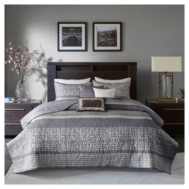 Madison Park MP13-3399 Rhapsody 6 Pc. Quilted Coverlet Set Full & Queen,