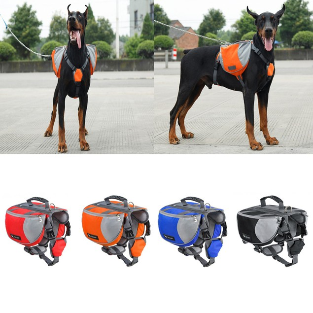 Dog Comfortable Small Pack Package Pet Outdoor Trainning Storage Backpack