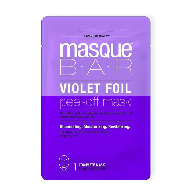 Masque Bar Pink Foil Peel Off Mask w/ Anise, Purifying Facial Pore Refiner