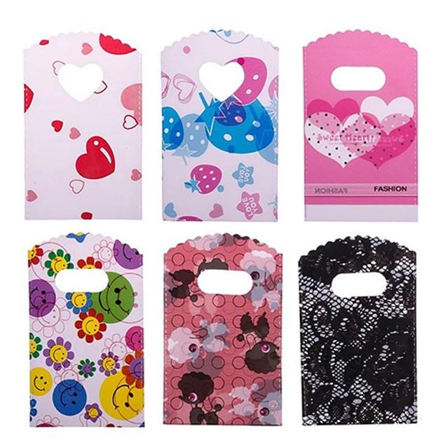 50Pcs Cartoon Bear Heart Flower Mix Small Mini Bags