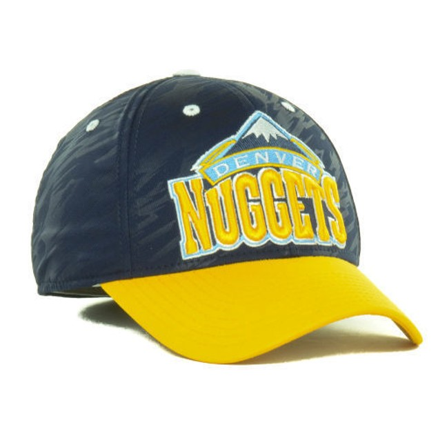 """Denver Nuggets NBA Adidas """"Courtside 2 Tone"""" Stretch Fitted Hat"""