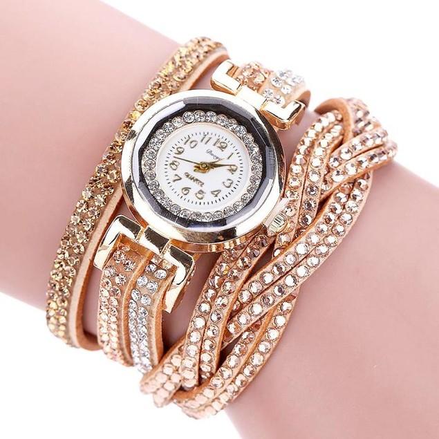 Luxury Crystal Women Bracelet Quartz Wristwatch Rhinestone Watches