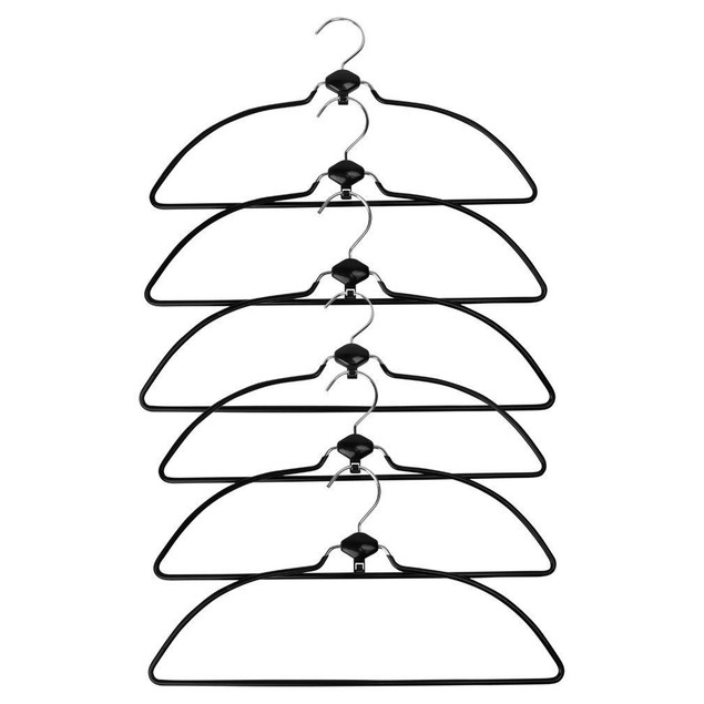 Metal Non Slip Rubber Coated Cascading Shirt, Blouse Hangers