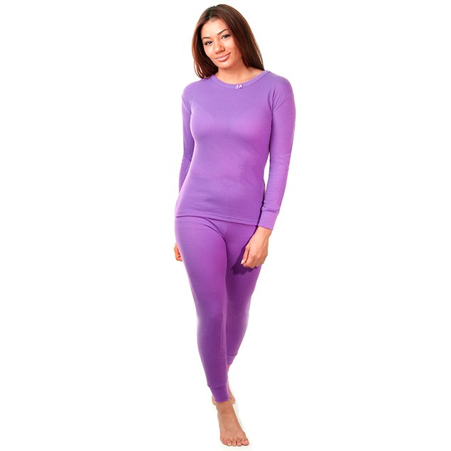 2-Piece Women's Super Soft 100% Cotton Thermal Set (S-2X)