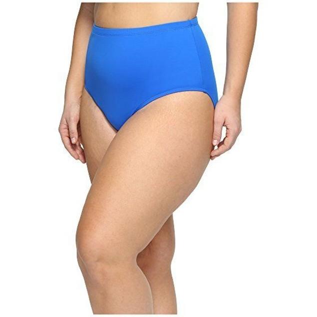 LAUREN Ralph Lauren Women's Plus Size Beach Club Hipster Bottom Blue SZ 16W