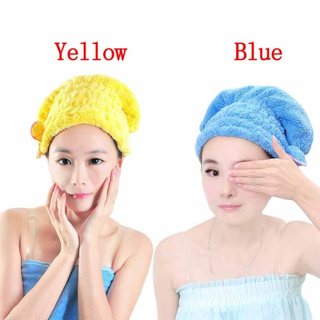 Bowknot Coral Fleece Hair-Drying Wrap