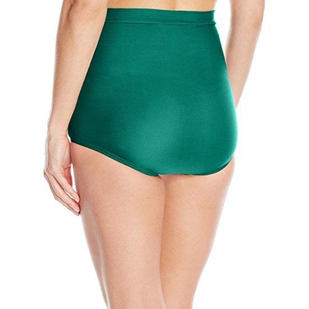 Unique Vintage Emerald Green Monroe High Waist Swim Bottom Only SIZE: