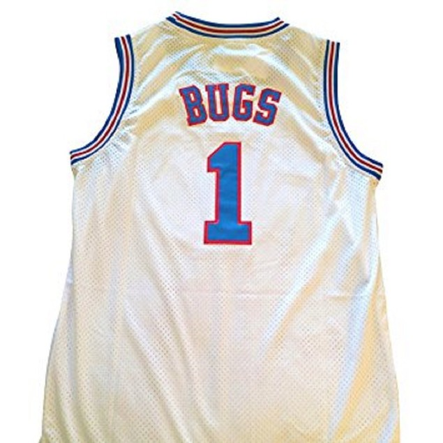 Bugs Bunny #1 Tune Squad White Basketball Jersey