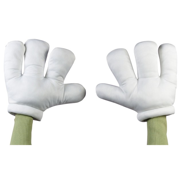 Cartoon Hands Small Child Gloves White Oversize Giant Big Style Costume