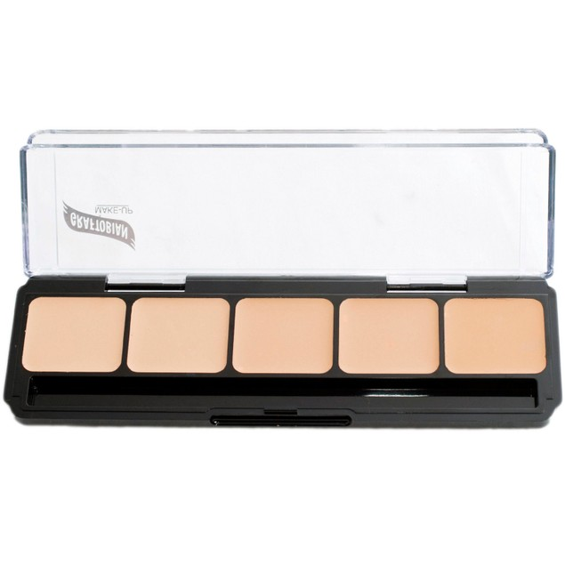 Neutral Palette #2 HD Glamour Creme Foundation Palette Graftobian 5 Shades