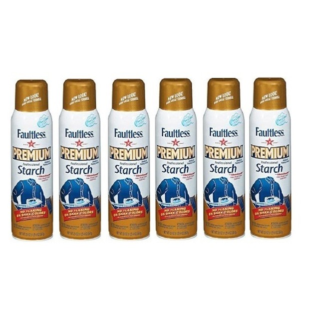 Faultless Premium Professional Starch Spray 6 Pack