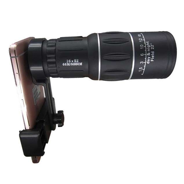 Optic Lens Camping Hiking Hunting Monocular Telescope with Phone Holder