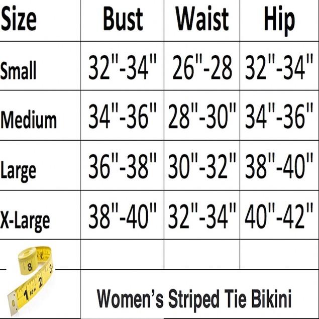 Women's Striped Tie Up Bikini
