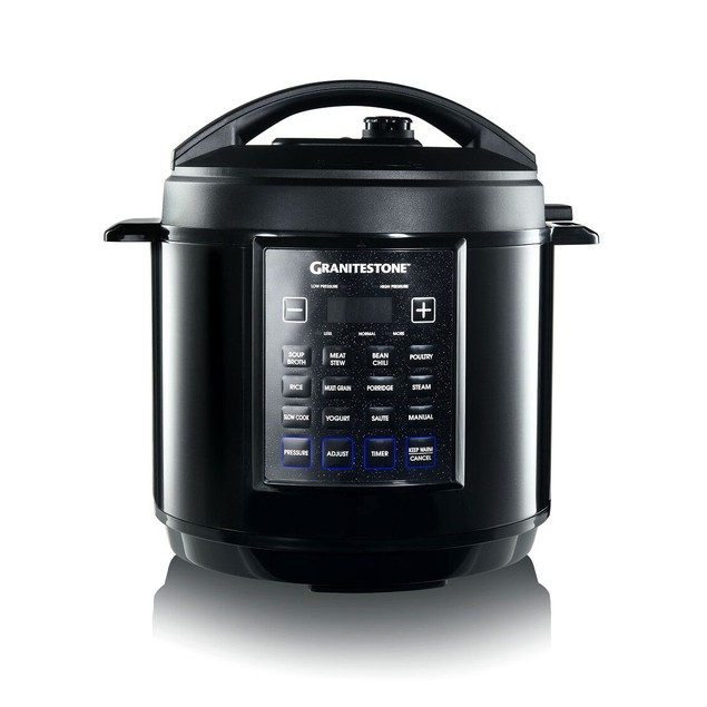 GraniteStone 6 Qt. Multi-Pressure Cooker with Built-In Timer & Pre-Settings