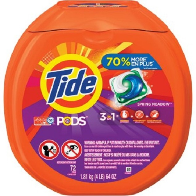 Tide Pods Spring Meadow Scent Laundry Detergent Pacs 72 Count
