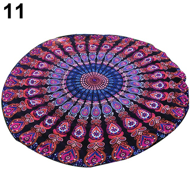 Indian Mandala Round Roundie Hippy Boho Beach Towel