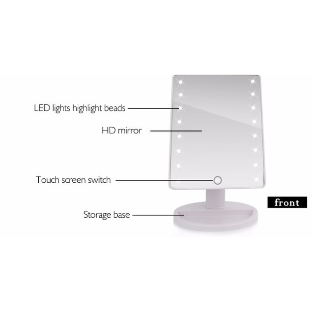 LED Touch Screen Makeup Mirror Professional Vanity Mirror