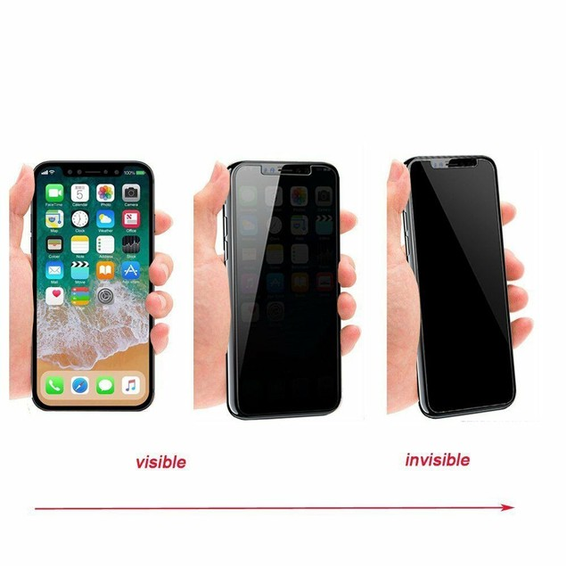 2 Pack iPhone 6/7/8 Plus Privacy Screen Protector Tempered Glass 9H Hard