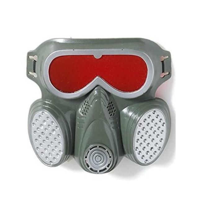 Biohazard Zombie Gas Mask Hazmat Toxic Face Undead Grey Costume Adult