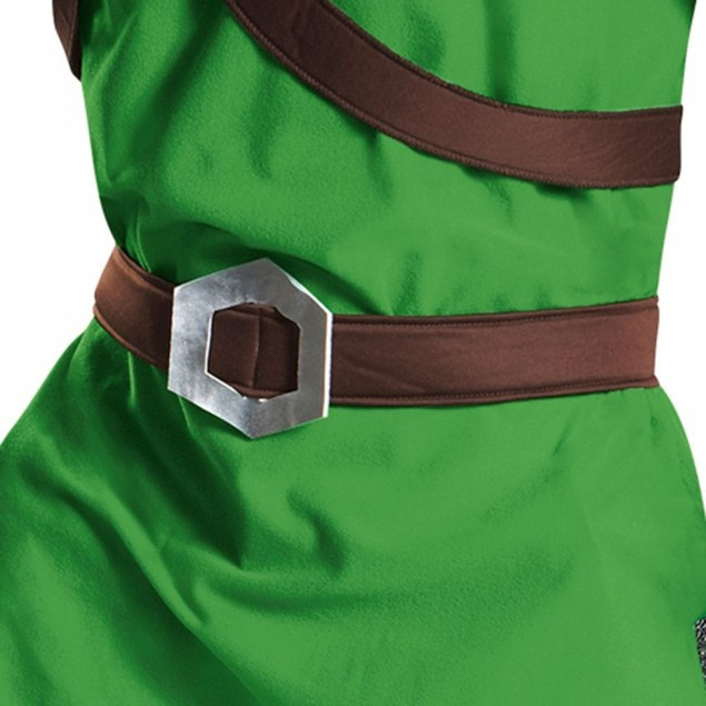 Link Classic Adult Legend Of Zelda Costume Nintendo Video Green Licensed