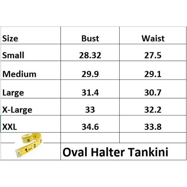 Oval Halter Tankini