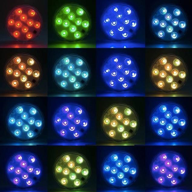 10LEDs 16 Colors 5050 SMD RGB LED Underwater Light