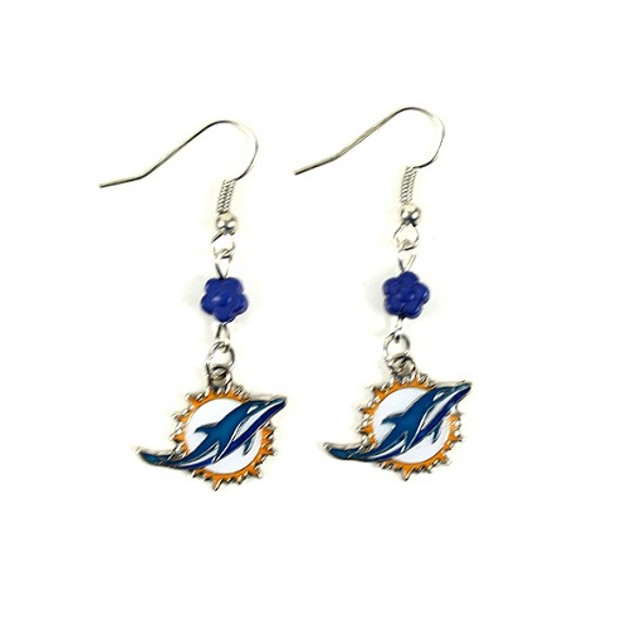 Miami Dolphins NFL Sophie Style Dangle Earrings