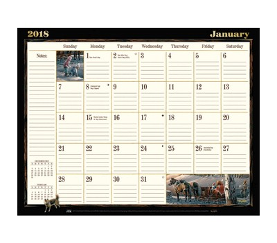 Terry Redlin Desk Pad Lang Folk Art By Calendars Tanga
