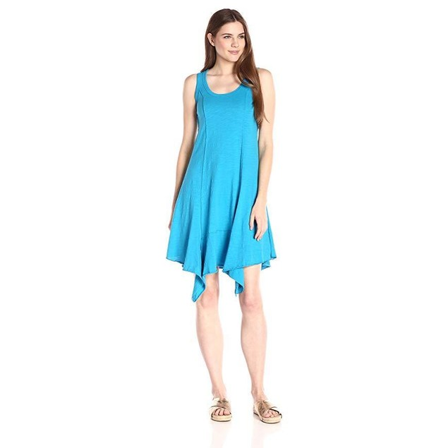 Mod-O-Doc Women's Slub Jersey Hanky Hemmed Tank Dress, Hypnotic, Large
