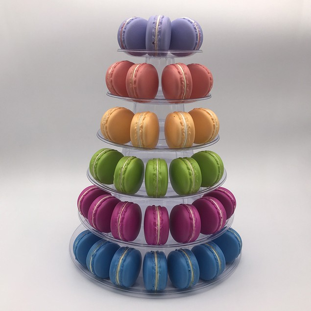 6 Tier Wedding Birthday Bakery Macron Cupcake Display Tower Stand