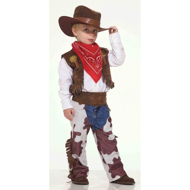 Cowboy Child Costume Western Vest Hats Chaps Halloween Old West Children