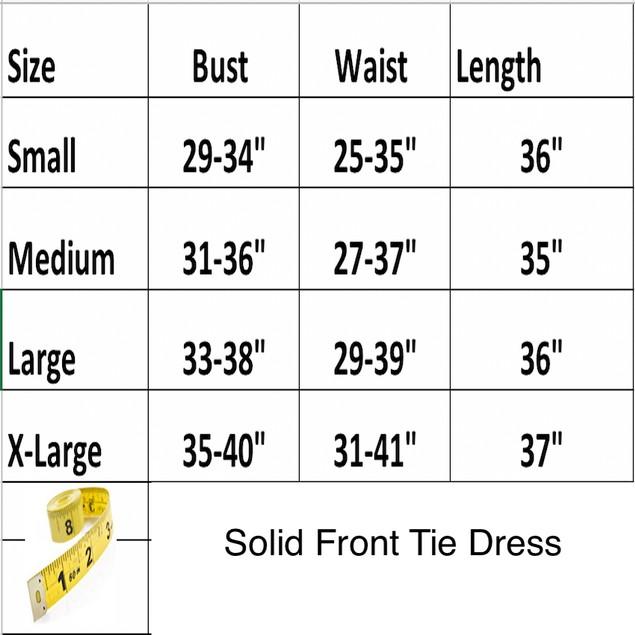 Solid Front Tie Dress